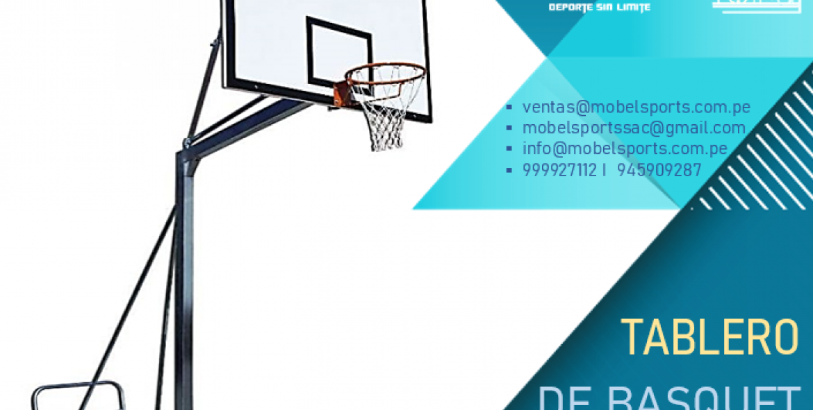 Tableros De Basquet Con Soporte Transortable -Mobel Sports