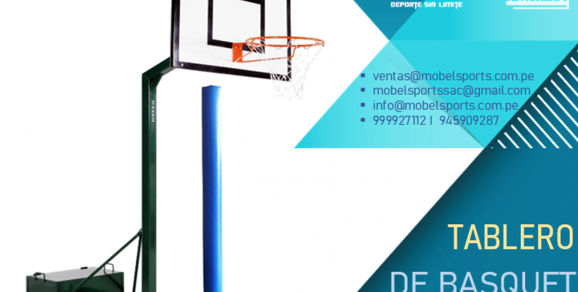 Tableros De Basquet Con Soporte Transportable -Mobel Sports
